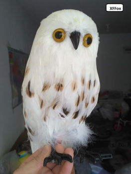 new lifelike owl model foam&furs garden decoration simulation owl doll gift about 32cm xf0481