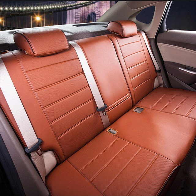 AutoDecorun Custom Car Seats For Volkswagen UP 2015 Seat Covers VW PU Leather Cars Cushion Cover Airbag Compatible Supports