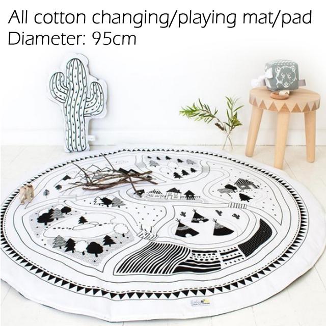 Mudança/jogar mat/pad, configurá-lo para o quarto, colocar o seu bebê sobre o tapete para mudar as fraldas. todo o algodão, não à prova d' água.