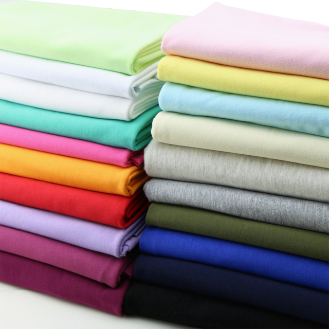 100% Cotton Fabric For Patchwork Thin Soft Baby T Shirt Cloth 100*185cm