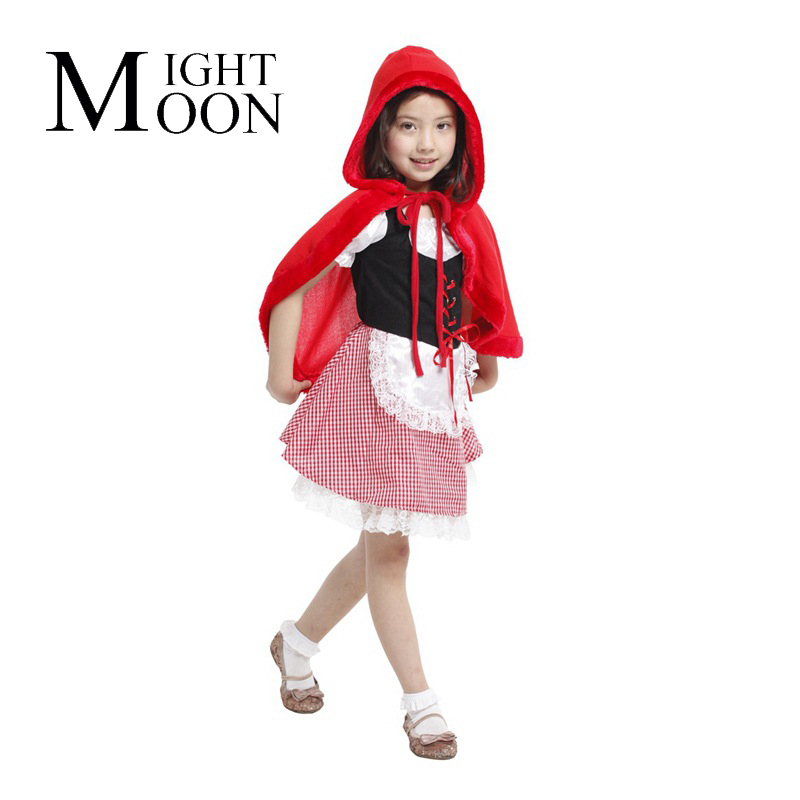 MOONIGHT Cute Little Red Riding Hood Set Halloween Costumes Show Clothing Cartoon Characters Play A Suit Of The Girls