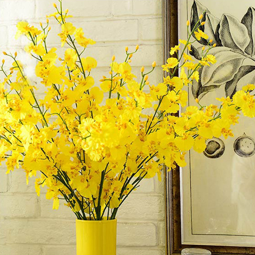 Artificial Flowers Real Touch Butterfly Orchid Simulation Latex Orchid Artificial Plant Fake Flowers Wedding Home Party Decor