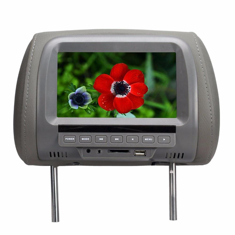 7 cali MP5 zagłówek monitora Monitor samochodowy TFT LED cyfrowy ekran odtwarzacz do samochodu obsługa kart SD, MP5, karty USB