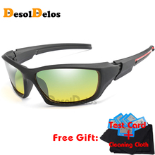 Polarized Yellow Driving Sunglasses at Night High Quality HD Vision Day Safety Glasses 2019