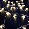 4 М 20Led Огни Рождественская Елка Снег Звезда Лампы Светодиодные Строка Фея Света Xmas Партия Свадьба Сад Гирлянды Елочные Украшения