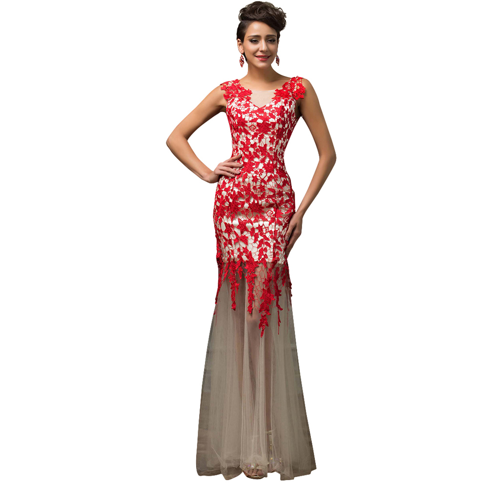 Cap Sleeve Black Red Mermaid Prom Dresses Lace Applique Evening Party Dress  2017 Vestidos Formal Long Prom Dresses 7588 - TakoFashion - Women s Clothing  ... 64a610f9978f