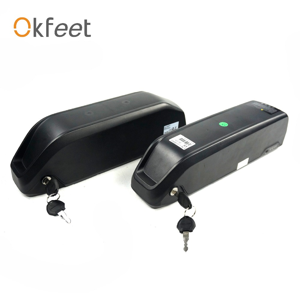Okfeet 36V 48V LG 18650 Cell Li ion Battery12ah 13ah 16ah Electric Bike Poly Cycling Lithium Battery With 2A Charger