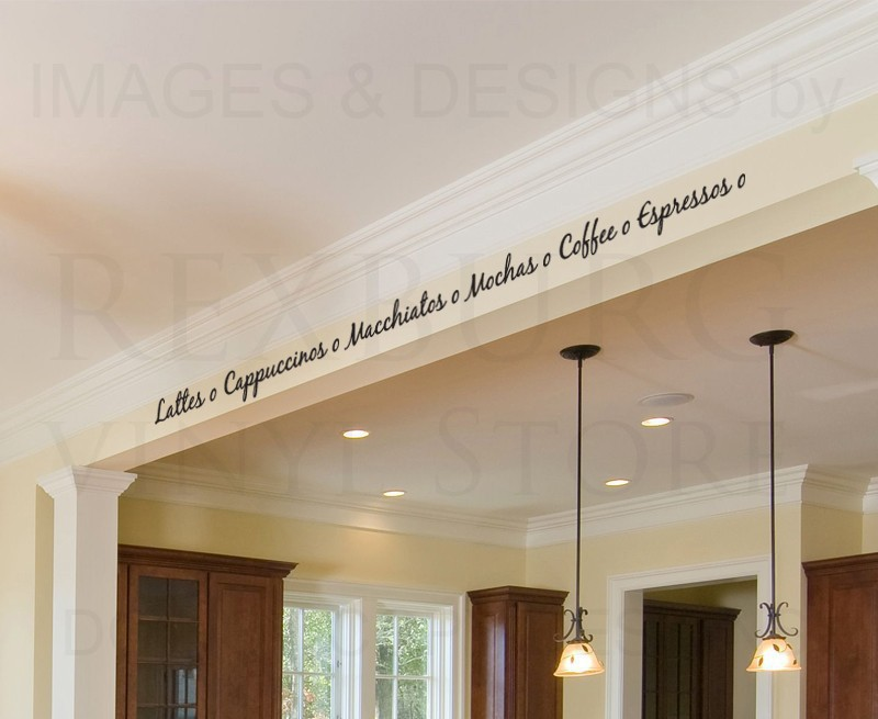 Cacar Home Wall Quote Decal Sticker Vinyl Art Coffee Latte Cappuccino Espresso Kitchen China