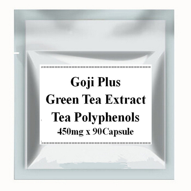 1 Pack Годжи Экстракт + Экстракт Зеленого Чая 98% Полифенолов Чая, Смешанного Капсула 450 мг х 90 ШТ.