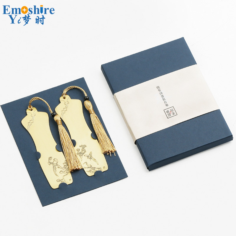 Golden Letter Number kowaku 2pcs Multifunctional Retro Brass Bookmarks