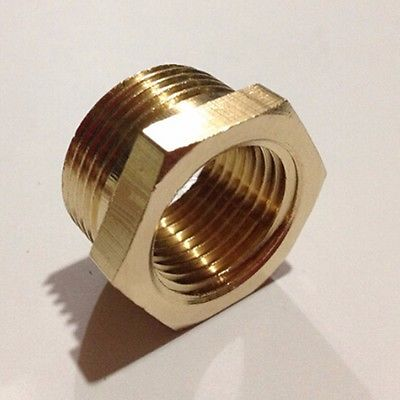 Brass Reducer 1/4 BSP Male Thread to 1/8 BSP Female Thread Reducing Bush adapter Fitting Gas Air Water Fuel