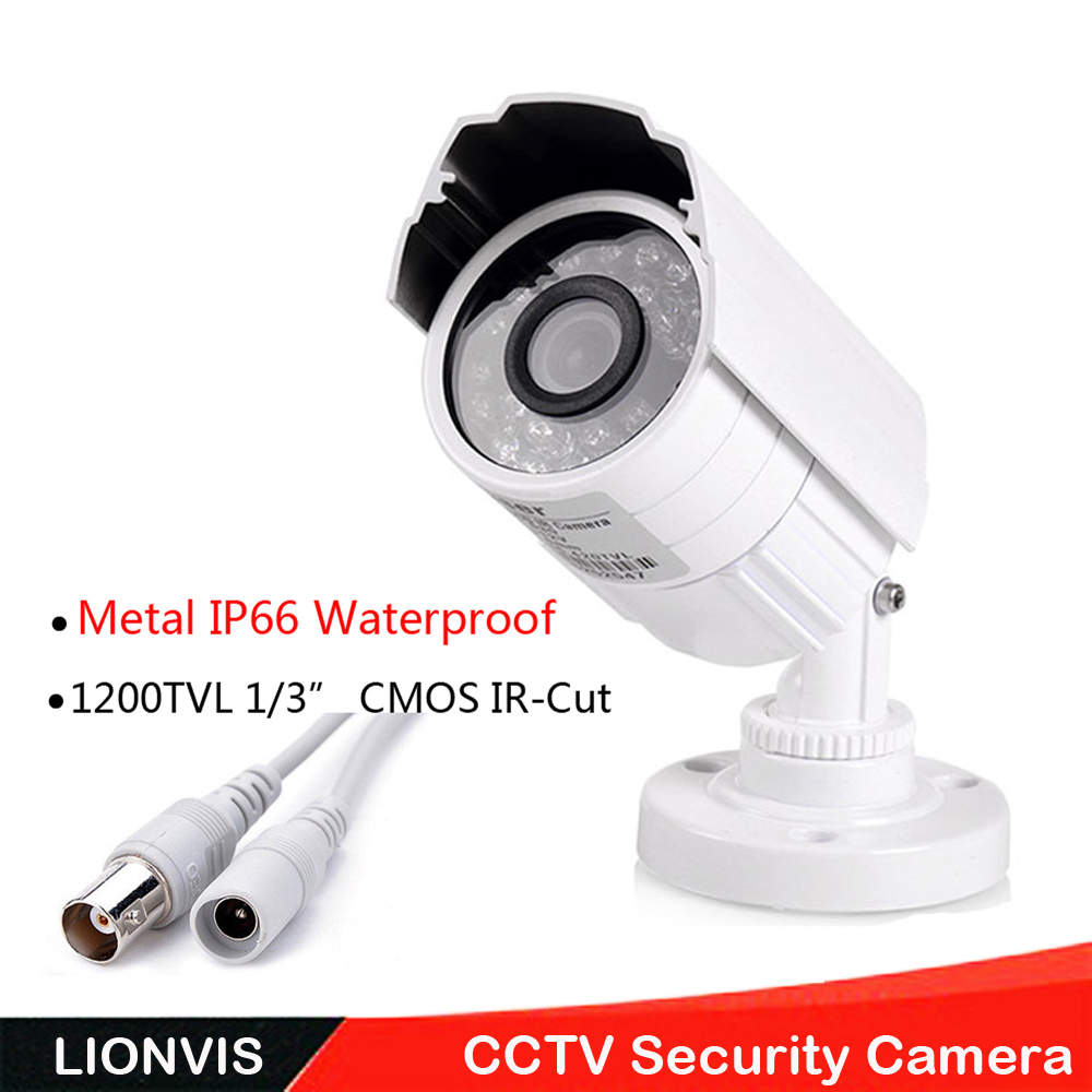 1/3'' SONY CMOS 1200TVL Mini Security Camera Metal IP66 24 LED Color IR Night Vision Surveillance Home Outdoor Video Camera 1 3 sony cmos 1200tvl cctv security camera metal ip66 24 led color ir night vision surveillance home outdoor video camera