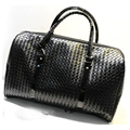 Patrón que hace punto negro Hombres mujeres bolsa de equipaje de viaje de cuero grande bolsas de viaje Duffle Bolsa de maletas de viaje bolsa de viaje 688 t