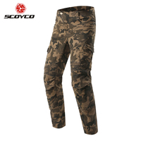 SCOYCO Motorcycle Pants Motorcycle Camouflage Jeans Motocross Trousers Off Road Racing Moto Pants Motorbike Jeans with Protector