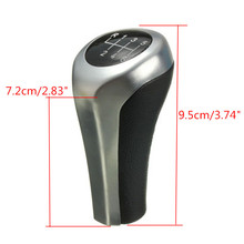 Gear Shift Knob Chromed Matte Carbon Fiber for BMW