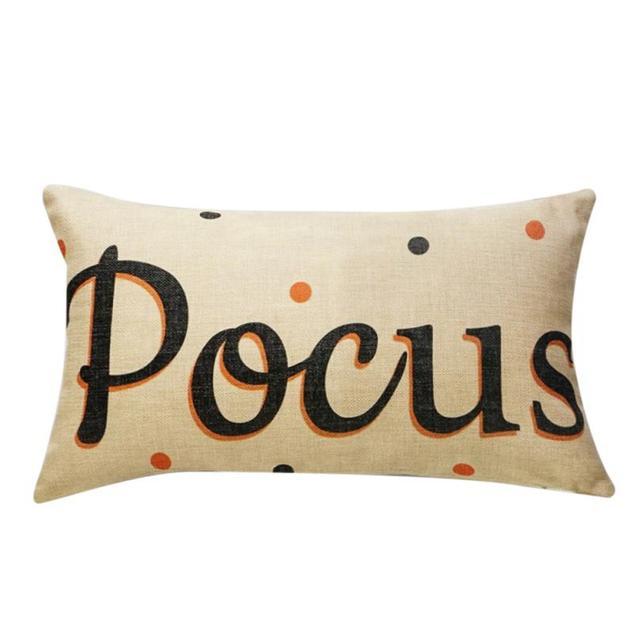 Decorativo Caso Cuscino di Tiro Zucca di Halloween Vacanza Velluto di Cotone Lin