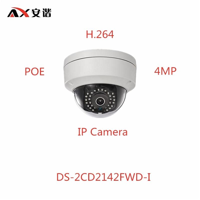 ANXIE English Version 4mp IP Camera DS-2CD2142FWD-I POE H.264 CCTV Camera hik ds 2cd2t42wd i8 6mm original english version ip camera 4mp ipc onvif poe p2p h 264 cctv camera security camera hd