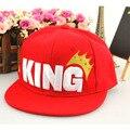 Free shipping summer cap fashion king hip-hop child baseball cap baby boy hats summer cap style snapback hiphop flat brim cap