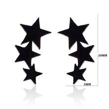 Three Stars Shaped Stud Earrings