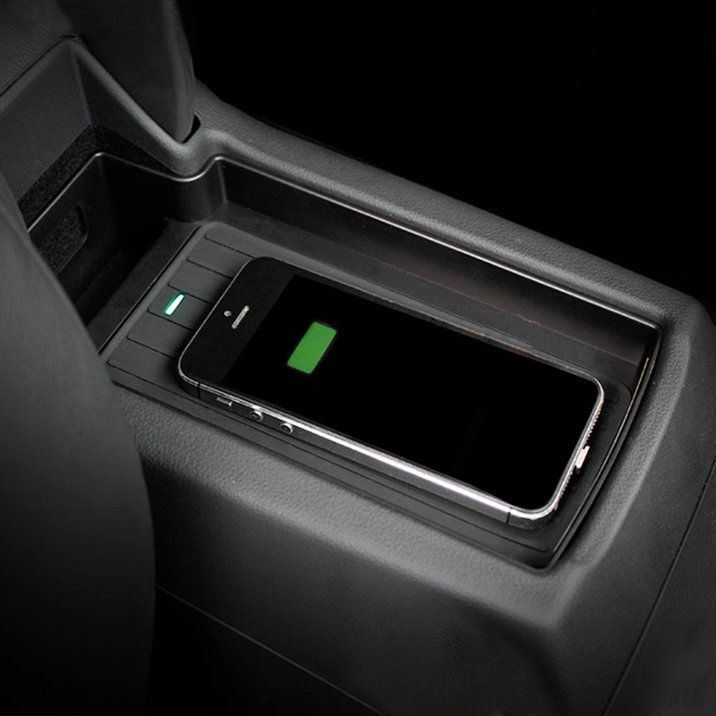 10W bezprzewodowego ładowania QI ładowarka do telefonu dla Audi Q3 2013 2014 2015 2016 2017 2018 podłokietnik ze schowkiem telefon bezprzewodowy