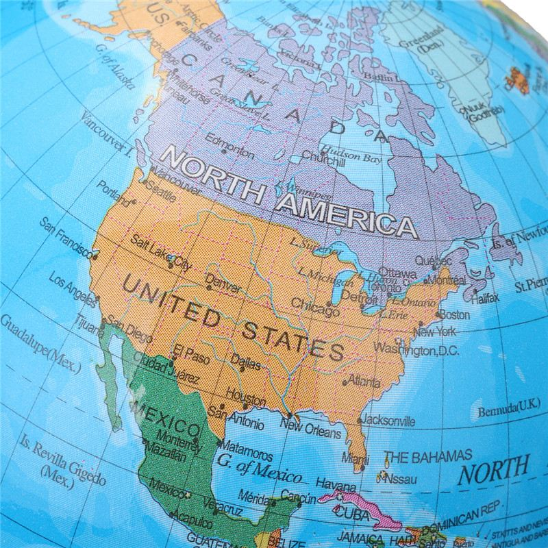 360 Degree World Map.Kiwarm Simple 360 Degree Rotating Globes Earth Ocean Globe World