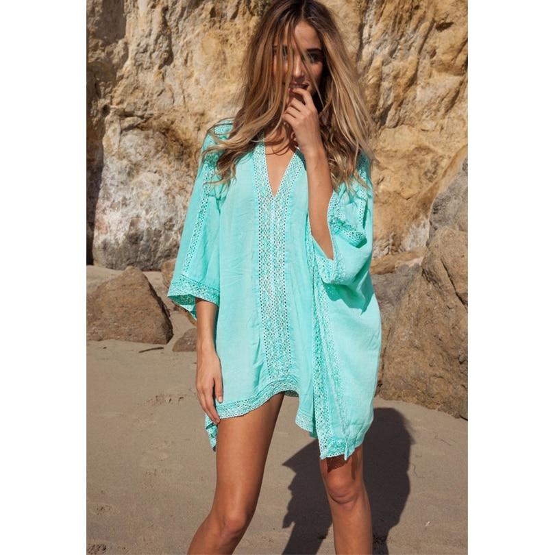 33b97422bb0a3 Women Girl Beachwear Bikini Beach Wear Cover Up Kaftan Summer Shirt Dress  Swimwear Hot Sale-in Cover-Ups from Sports   Entertainment on  Aliexpress.com ...
