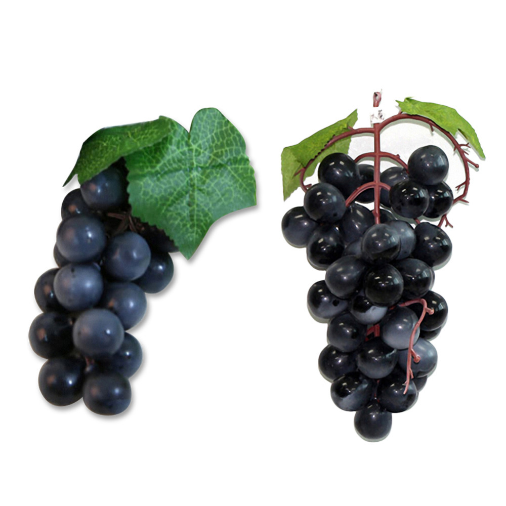 Top Quality Bunch Lifelike Artificial Grapes Plastic Fake Decorative Fruit Food Home Decor China