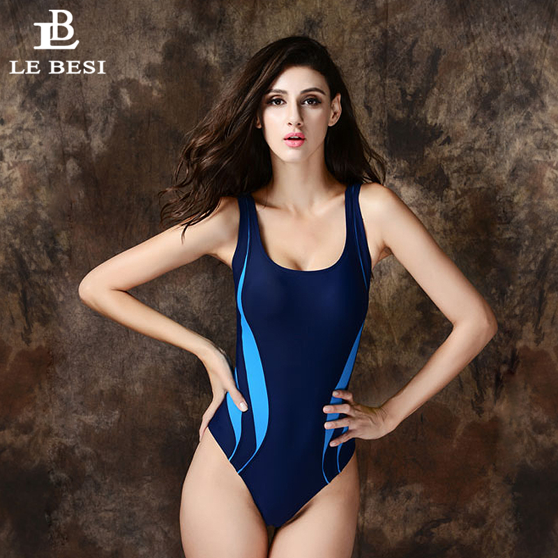 LEBESI 2017 One Piece Swimsuit Professional Swimwear Women Competitive Swimming Suit Quick Dry Racing Suit Sports Swim Suits competition swimsuits girls professional swim patchwork swimsuit female swimwear open back high cut women swimming racing suit