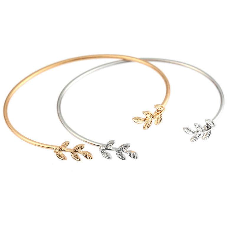SL163 ليف أساور و أساور موضة المفتوحة الإسورة المرأة الكفة سوار Pulseiras Pulseira Feminin مجوهرات صغيرة 2018