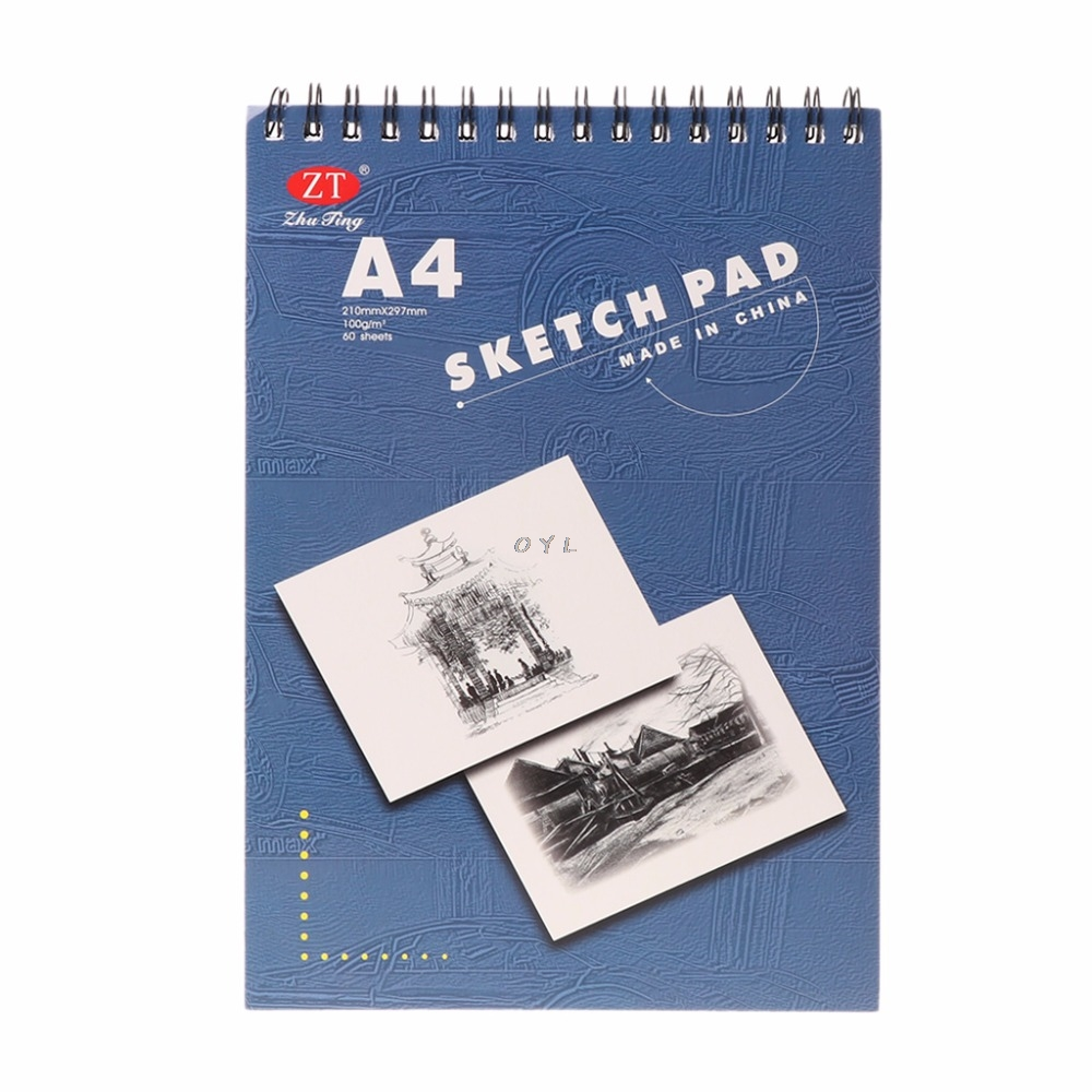 60 Sheet A4 Painting Drawing Paper Notebook  Sketch Book Pad Art Sketchbook School Gift Acrylic Paint Supplies