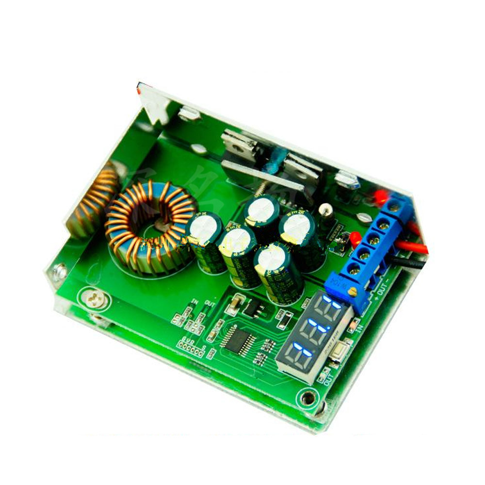 1Pc DC-DC Voltage Regulator Module 10A High Power 300W Adjustable Stabilized Voltage Supply Module With Voltmeter Display цена