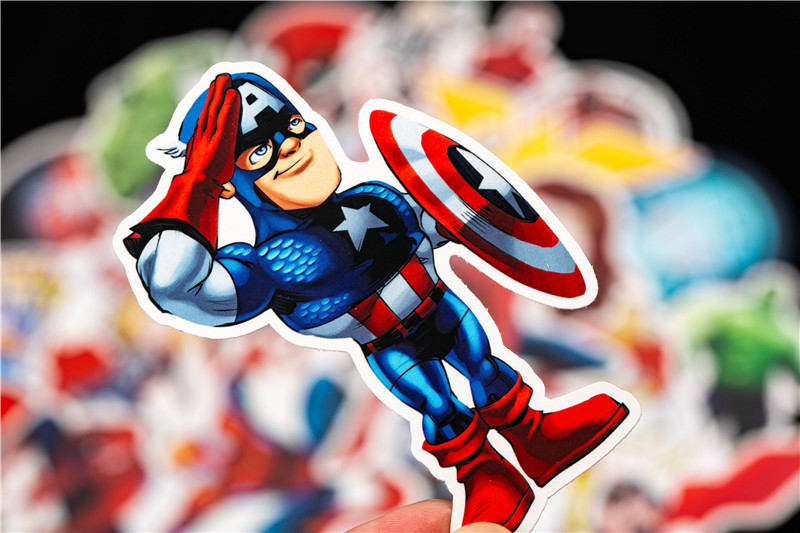 Super Hero Stickers Funny JDM Kids Toy Sticker for DIY Luggage Laptop Skateboard Motorcycle Car Phone Bedroom Sticke (8)