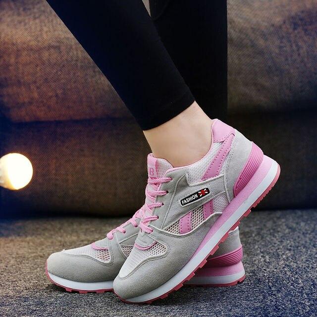9e72611821 TOURSH Women Running Shoes Krasovki Womens Sneakers 2017 Sneakers Women Zapatillas  Deportivas Mujer Female Sports Pink Size 7.5