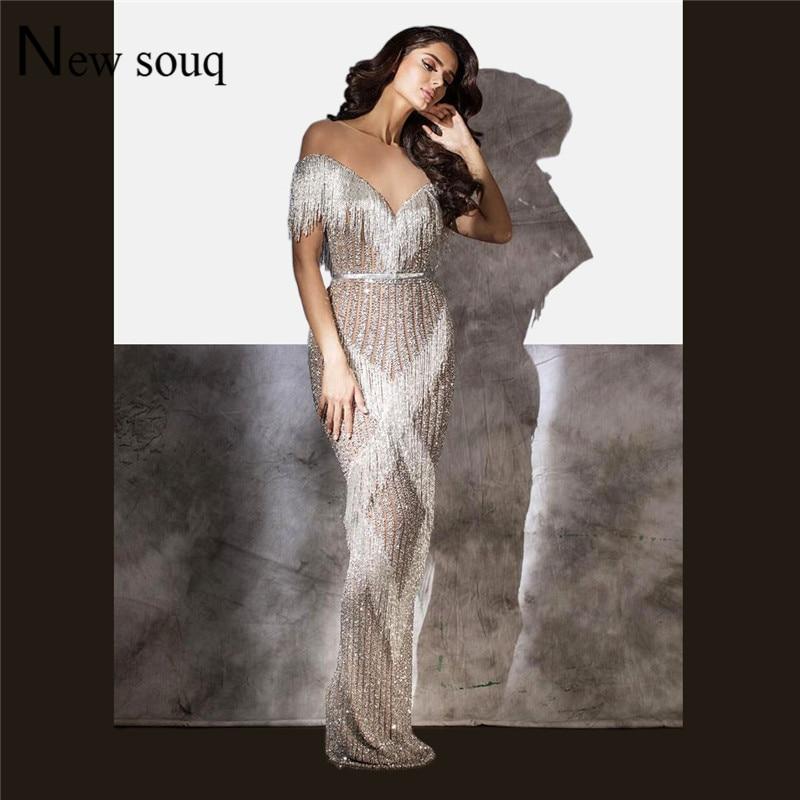 Luxury Arabic   Evening     Dresses   Robe De Soiree Aibye Muslim Dubai Turkish Prom Gowns Middle East Party   Dress   Abendkleider 2019