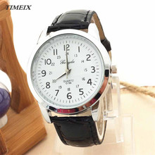 Men Watch 2017 Elegant Analog Luxury Sports Leather Strap Quartz Mens Wrist Watch Round Case Free Shipping #50*40