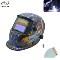 trqwh American Ealge Tig Welding Helmet Chameleon Glass PP Material Resistant Comfortable Headgear Fas Shipping TRQ HD17 2200DE