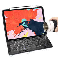 For iPad Pro 11/12.9 2018 Keyboard Case,WOWCASE Bluetooth Magnetically Attach Charging Slim Tablet Cover For iPad 2018 Keyboard