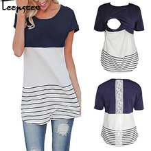 Teenster Maternity Clothes Nursing Shirts Summer Short Sleeve T Shirt Breastfeeding Tops Woman Clothes Plus Size Pregnancy