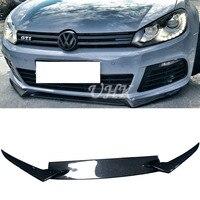UHK Car Accessories For VW Golf 6 R20 Osir Style Carbon Fiber Front Bumper Lip Spoiler Diffuser Splitter Auto Bumpers