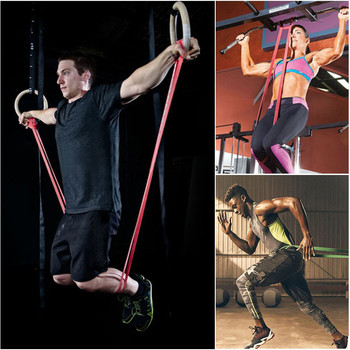 Elastic Belt Body Building Resistance Elastic Band Resistance Strength Training Latex Pull Rope Loop Workout Muscle