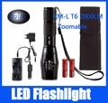 CREE XM-L T6 2000 Люмен Масштабируемые LED Фонарик фонарик Lanterna + 2*18650 5000 мАч Аккумулятор + зарядное устройство + Чехол