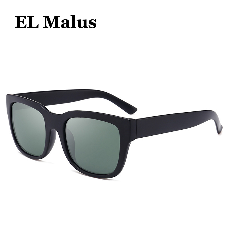 Men's Glasses el Malus polarized Big Square Frame Sunglasses Uv400 Men Male Silver Tan Lens Mirror Retro Brand Designer Sun Glasses Oculos Back To Search Resultsapparel Accessories