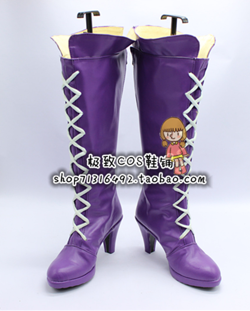 LOL Miss infortune filles violettes Cosplay chaussures bottes X002