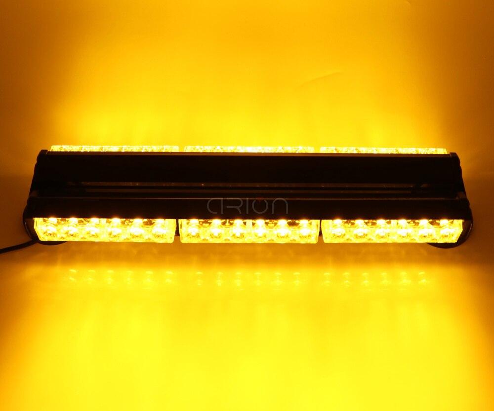 1200MM 96 LED DOUBLE SIDE LED WORK LIGHT BAR BEACON WARNING STROBE LIGHT AMBER