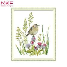 NKF cross stitch fabric kits for embroidery printed on canvas pattern 14CT 11CT Print cloth DMC handmade Needlework