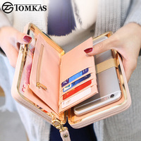TOMKAS Phone Case For IPhone X 8 7 6 Plus Women Wallet Litchi Patterned Leather Phone