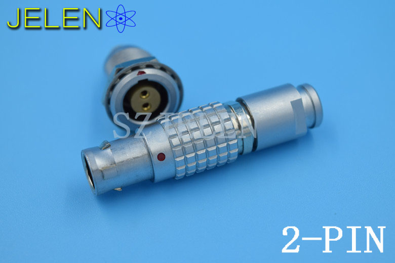 LEMO 1B 2 pin connector ,FGG/EGG.1B.302.CLAD,  Medical connector 8 pin plug, camera Male female connector 2 pin, LED Connectors lemo 1b 6 pin connector fgg 1b 306 clad egg 1b 306 cll signal transmission connector microwave connectors