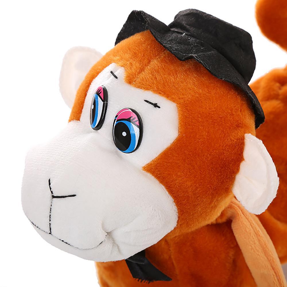 Electric Walking Dancing Plush Monkey with Leash Toddler Stuffed Animal Doll Toy 4