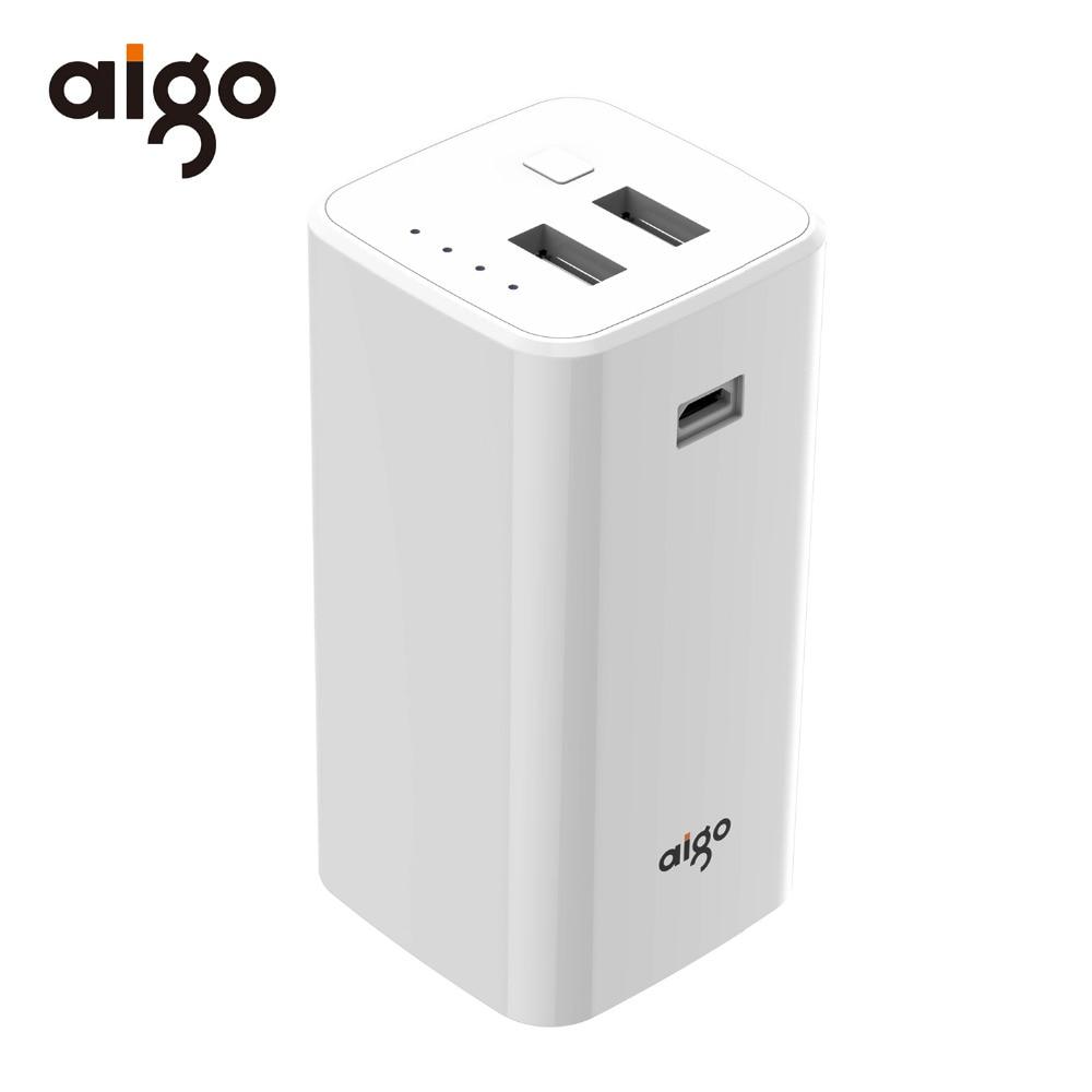 Aigo Power Bank 10000mAh Portable Charging Batterie Externe Mobile Phone Powerbank for iPhone Samsung Xiaomi Huawei Smartphones
