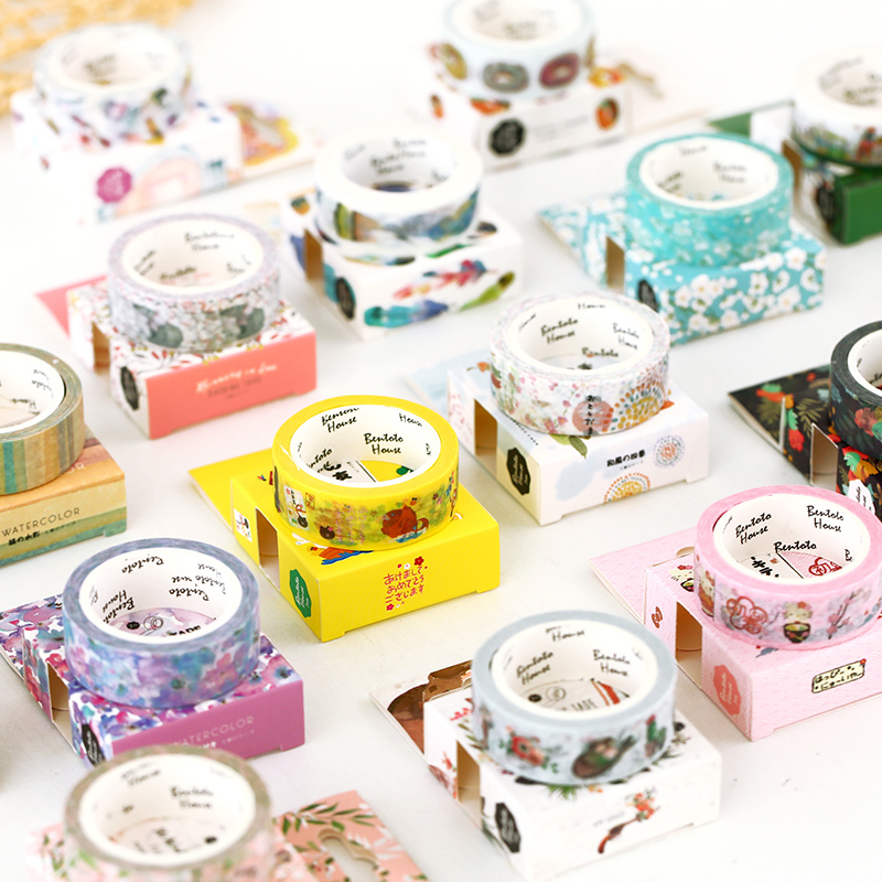 Donut Sakura Feather Decorative Washi Tape Adhesive Tape DIY Scrapbooking Sticker Label Masking Tape